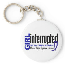 Girl Interrupted CFS Chronic Fatigue Syndrome Keychain
