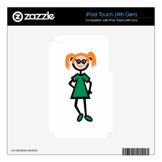 Girl iPod Touch 4G Skin
