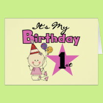 Girl It's My Birthday Tshirts and Gifts Card