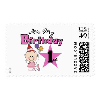Girl It's My Birthday Tshirts and Gifts Stamp
