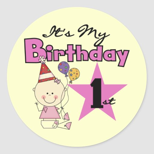 Girl It's My Birthday Tshirts and Gifts Classic Round Sticker