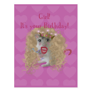 Girl It's your Birthday! Postcard