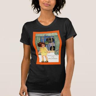 Girl Jack O' Lantern Pumpkin Trick Or Treat T-Shirt