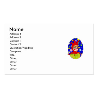 Girl Jester Double-Sided Standard Business Cards (Pack Of 100)
