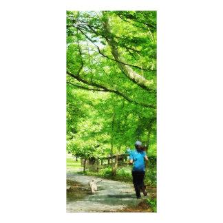 Girl Jogging With Dog Custom Rack Card