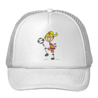 Girl Juggling Soccer Ball Hat