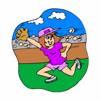 girl jump for it cutout
