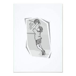 Girl Jump shot Card