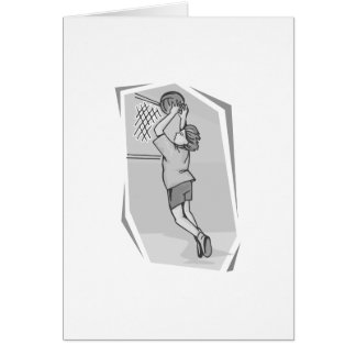 Girl Jump shot Stationery Note Card