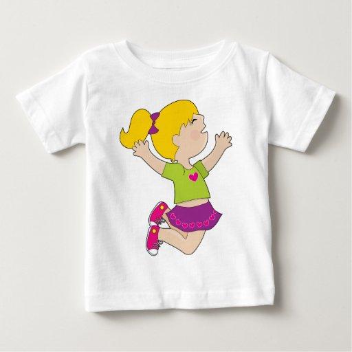 Girl Jumping Infant T-shirt