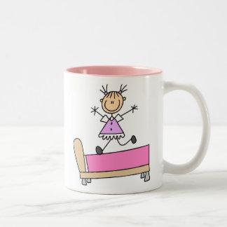 Girl Jumping On Bed Mug