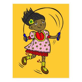 Girl Jumping Rope Postcard