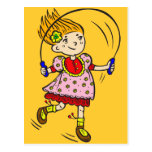 Girl Jumping Rope Postcards
