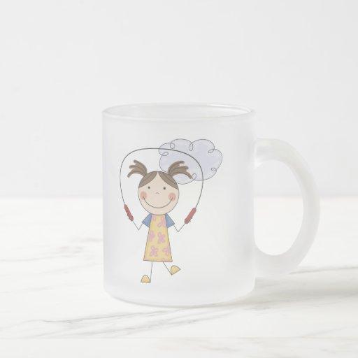 Girl Jumping Rope  T-shirts and Gifts Mug