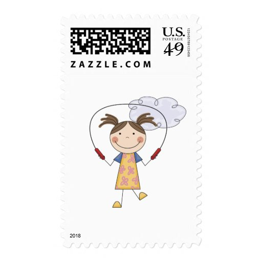 Girl Jumping Rope  T-shirts and Gifts Postage