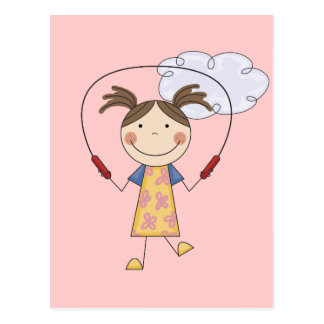 Girl Jumping Rope  T-shirts and Gifts Postcard