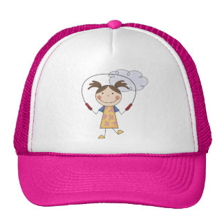 Girl Jumping Rope  T-shirts and Gifts Trucker Hat