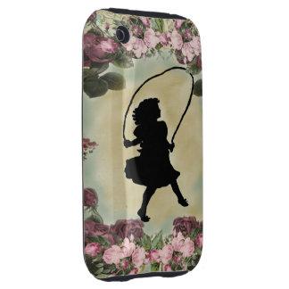 girl jumping tough iPhone 3 case