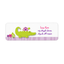 Girl Jungle Alligator Turtle Address Labels