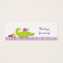 Girl Jungle Alligator Turtle Goodie Bag Tags