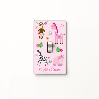 Girl Jungle Animal Light Switch Cover Light Switch Covers