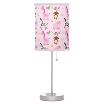 Girl Jungle Animal Personalized Lamp