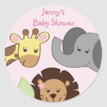 Girl Jungle Animal Stickers Envelope Seals