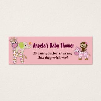 Girl Jungle Safari Baby Shower Favor Gift Tags