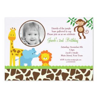 safari photo birthday invitations  announcements  zazzle, Birthday invitations