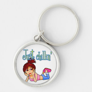 Girl Just Chillin'  Keychain