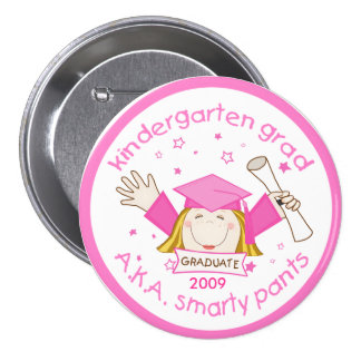 Girl Kindergarten Graduate / Graduation Button