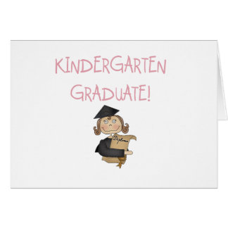 Girl Kindergarten Graduate T shirts and Gifts Greeting Card