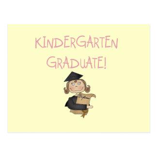 Girl Kindergarten Graduate T shirts and Gifts Postcard