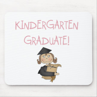 Girl Kindergarten Graduate Tshirts and Gifts Mouse Pad