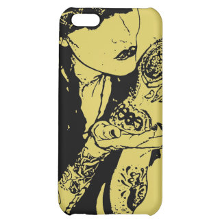 girl kisses skull iphone case case for iPhone 5C