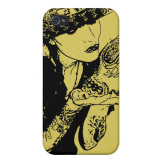 girl kisses skull iphone case iPhone 4/4S cover