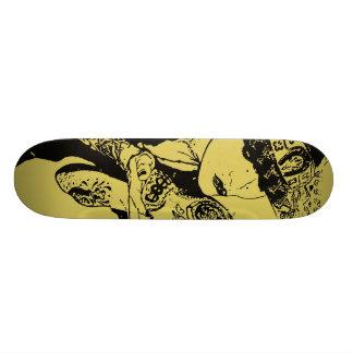 Girl Kisses Skull Skate Deck