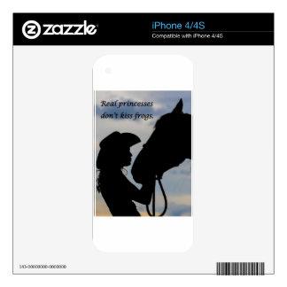 Girl Kissing Horse iPhone 4 Skins