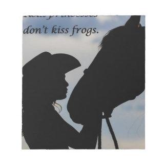 Girl Kissing Horse Notepad