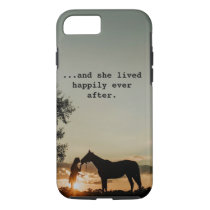 Girl Kissing Horse She Lived Happily Ever After iPhone 8/7 Case