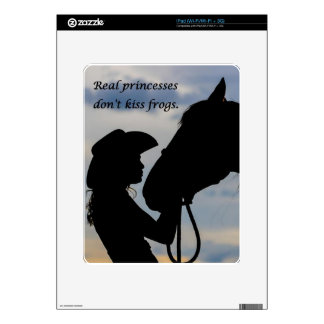 Girl Kissing Horse Skins For The iPad