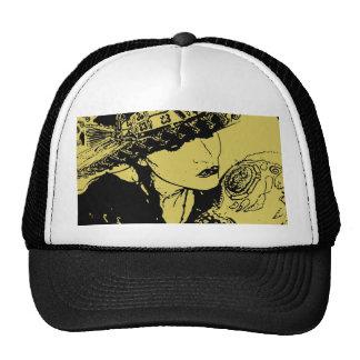 Girl Kissing Skull Trucker Hat