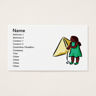 Girl Kiting Business Card