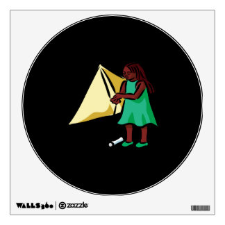 Girl Kiting Wall Sticker