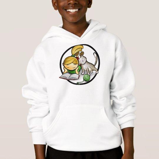 Girl & Kitten - Kids Hooded Sweatshirt