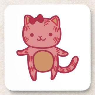 Girl Kitty Coaster
