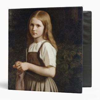 Girl Knitting, 1854 Vinyl Binders