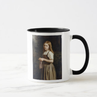 Girl Knitting, 1854 Mug