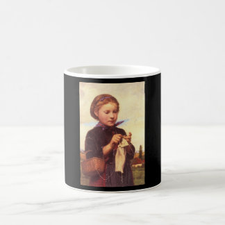 Girl Knitting', Albert_Portraits Coffee Mug