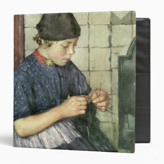 Girl Knitting Binder